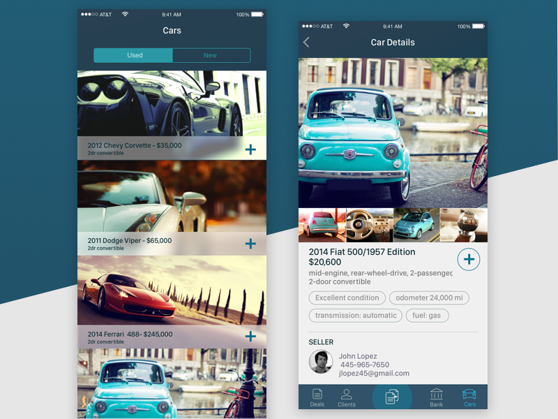 Deal Manager App car mobile android ios