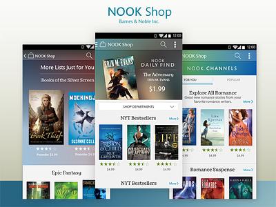 Nook Shop books mobile e-commerce shop