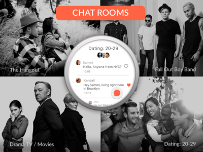 Android watch app - chat rooms