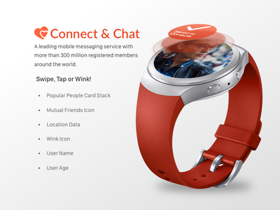 Android watch concept message people social chat apple digital orange wearables samsung gear watch android mobile