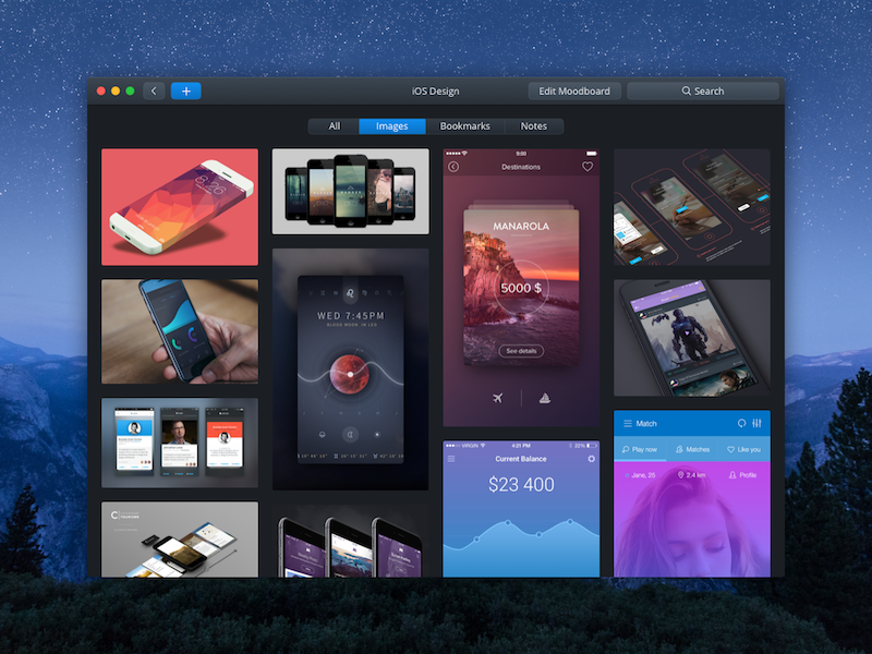 new app to create moodboards by artem nosenko