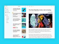 Pocket app for macOS clean news sierra desktop minimalism articles os x macos focus pocket readability read