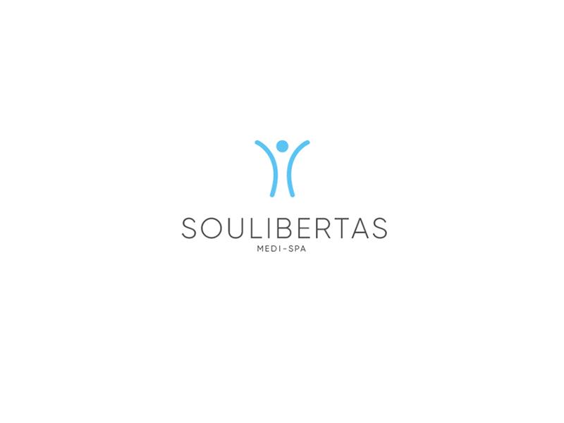 Soulibertas Medi-Spa minimalistic logo visual identity branding spa