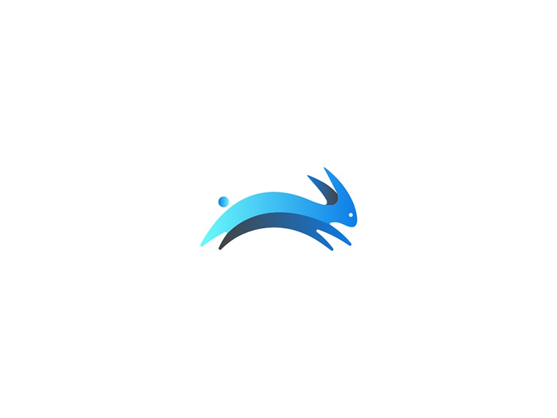 HireHopping bunny branding behance logo blue crypto cryptocurrency
