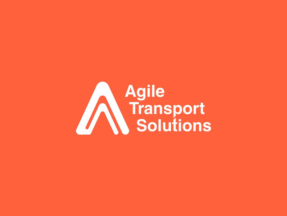 Agile Transport Solutions (ATS) solution transportation logo design design minimalistic visual identity logo