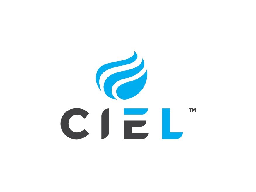 Ciel design blue logo design minimalistic branding visual identity logo