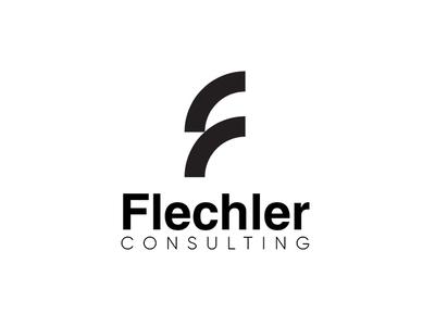 Flechler Consulting bnw blackandwhite consulting logo design minimalistic branding visual identity logo