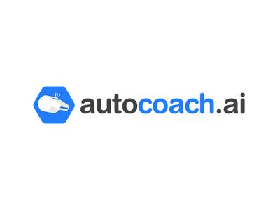 Autocoach coaching digital ai coach design blue logo design minimalistic branding visual identity logo