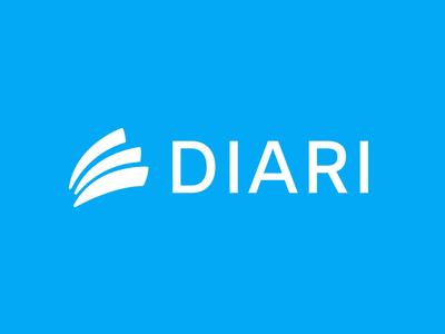 Diari vector diary design blue logo design minimalistic branding visual identity logo