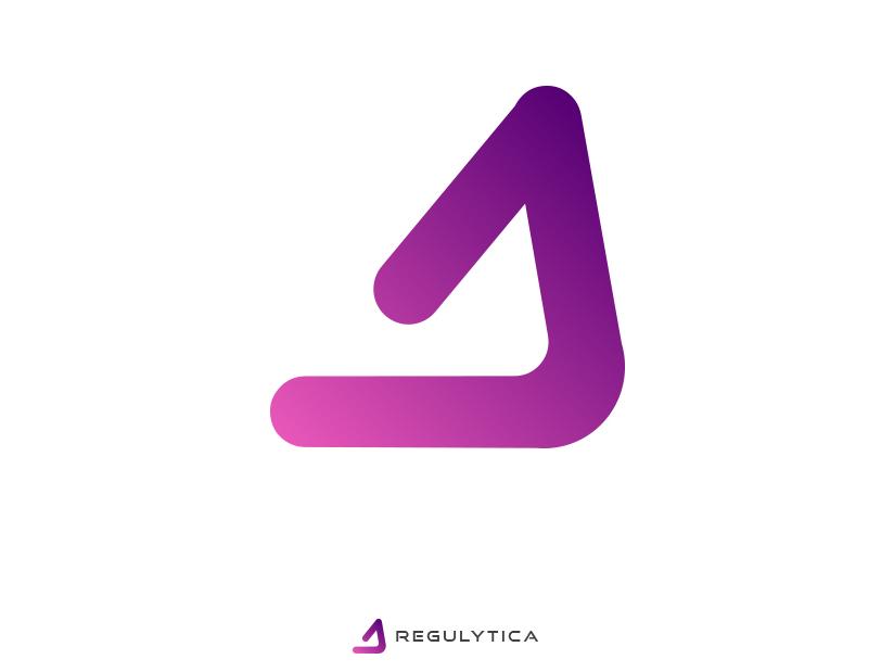 Regulytica analysis data webapps saas logo design minimalistic visual identity logo