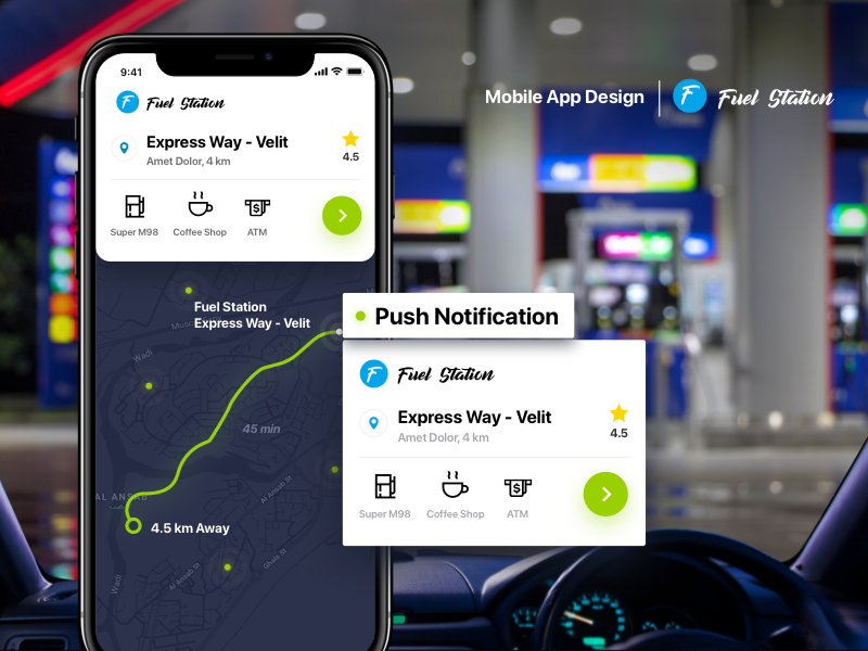 Fuel Station App map nearby proximity station fuel