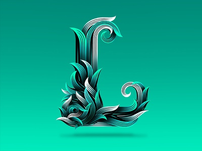 152/365 L typography type procreate logotype lettrage lettering ipad illustration handlettering graphism