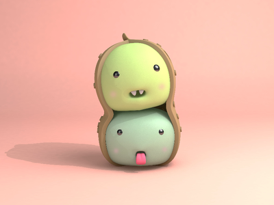 Peanut brothers role naughty lovely c4d