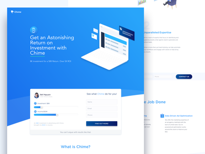 Landing page agent estate real concise clean