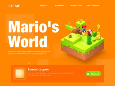 Mario c4d color operation game mario