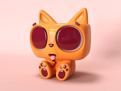 cat color design clean c4d