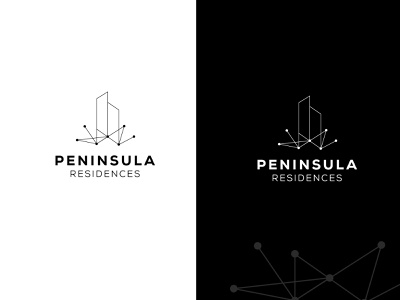 Residences Logo Concept flat connect home house digital ui vector design identity colorful branding brand logo