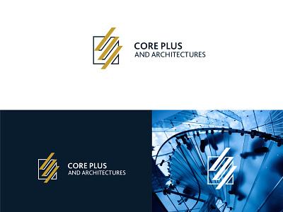 Core Plus Architectures Logo architecture logo web icon identity digital ui vector design branding brand logo