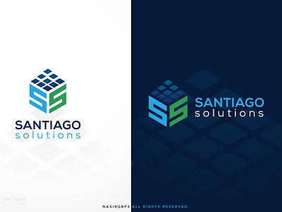 Santiago Solution Letter SS logo icon vector identity branding brand logo