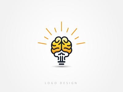 Creative Idea Logo Template mastermind genius logo inspired artistic logo imaginative inventive logo geeky developer logo designer logo bulb creative logo brain idea