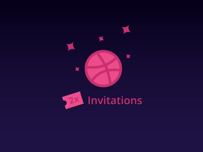 2x Dribbble Invites : Updated