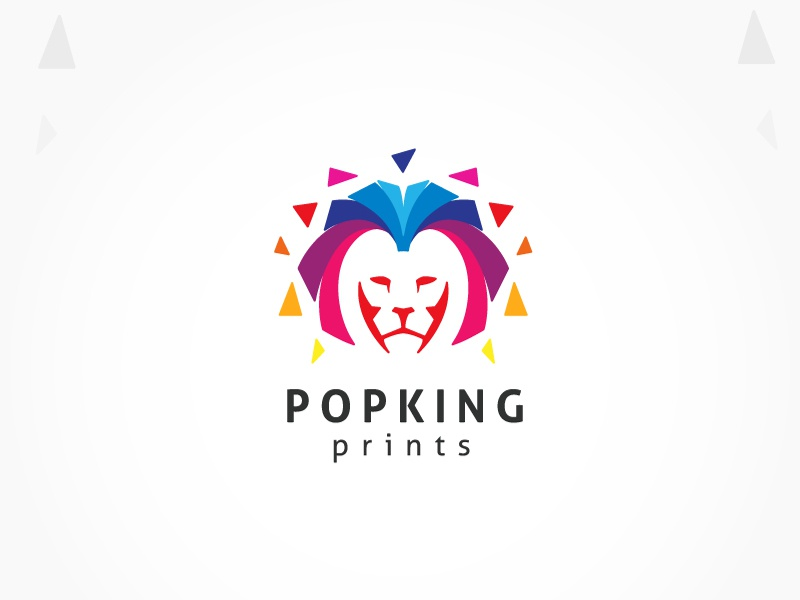 Colorful Lion King Logo
