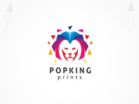 Colorful Lion King Logo