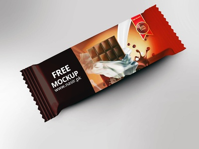 Free Psd Mockup for Chocolate Bar Packaging Design