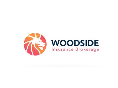 Woodside Insurance Brokerage Logo web vector icon design identity branding colorful brand logo