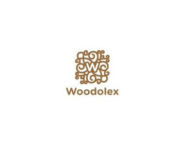woodolex Logo ornament lasercut logo design wood logo