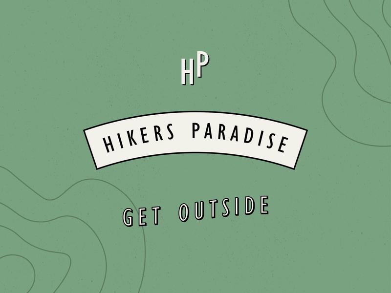 Hikers Paradise seal outdoors hiking logo hike illustration branding design branding hiking outdoors logo