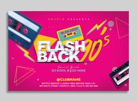 Retro 90s Flyer Template