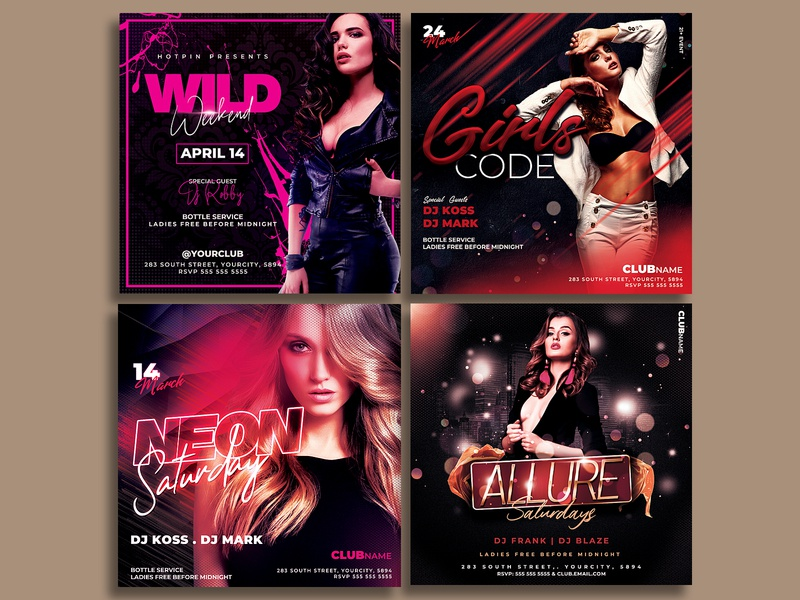 Night Club Flyer Template Bundle