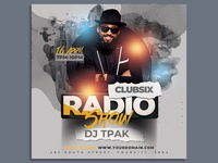 Radio Show Party Flyer Template