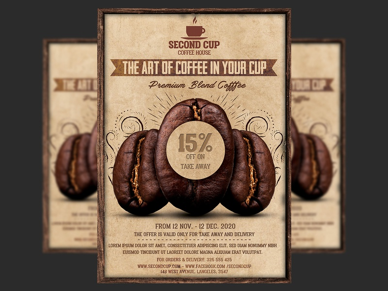 Coffee Shop Promotion Flyer Template restaurant psd promotional promotion photoshop offer modern flyer design design cup coffee shop coffee promotion coffee flyer coffee bar coffee cafe
