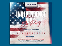 Independence Day Flyer Template party minimalist minimal memorial day invitation independence day flyer flag fireworks event club flyer club clean celebration american flag american 4th of july 4th july flyer 4th july