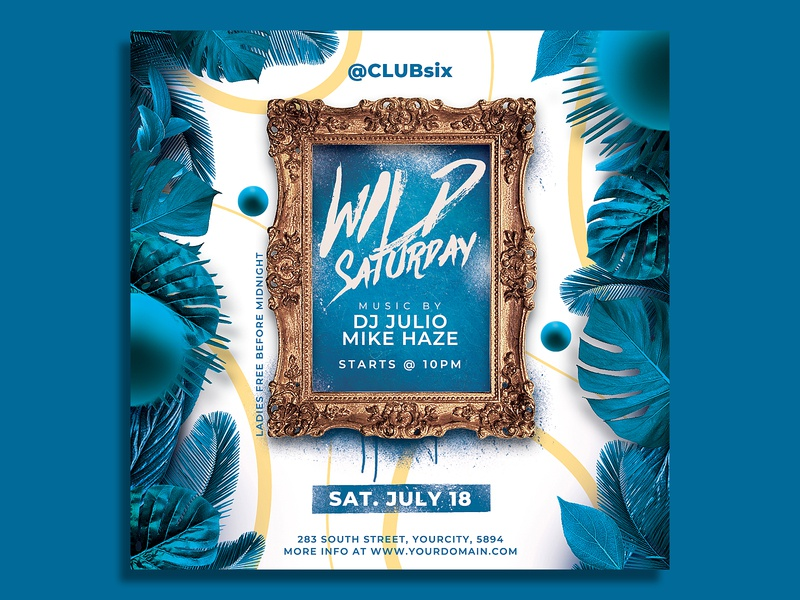 Summer Flyer Template spring print ready print post pool party party flyer party nightclub modern flyer event dj flyer concert cocktail club flyer champagne beach party beach bar