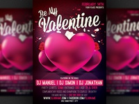Be My Valentine Party Flyer Template