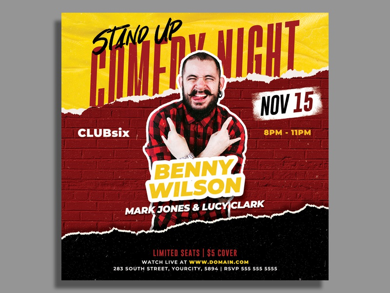 Stand Up Comedy Flyer Template stand up comedy square flyer show podcast open mic invitation instagram template instagram post instagram flyer flyer template flyer dj flyer comedy show comedy night comedy flyer comedy club comedy comedian artist flyer