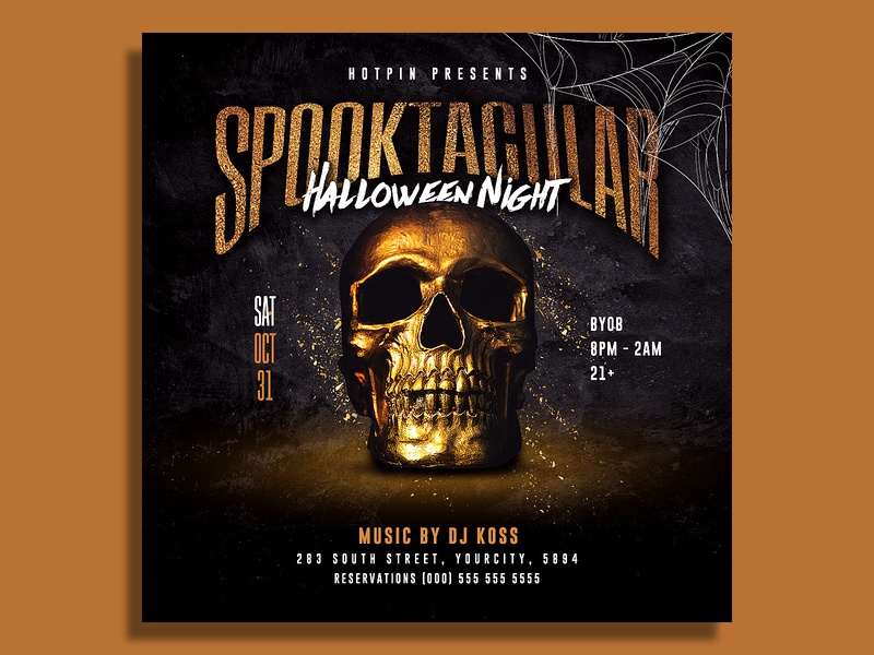 Halloween Flyer Template scary poster post party flyer party invitation instagram horror haunted house haunted happy halloween halloween poster halloween party halloween invitation halloween flyer
