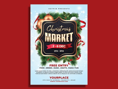 Christmas Market Flyer Template poster post party pamphlet market holiday flyer fair event flyer event december craft country christmas sale christmas flyer christmas bazaar christmas bazaar