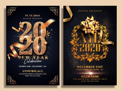 New Year Flyer Bundle nye flyer nye nightclub new years eve new year party flyer new year party new year invitation new year countdown new year 2021 new year gold flyer template flyer design flyer dj club flyer christmas party 2021 party