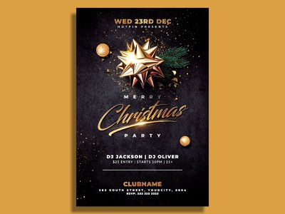 Christmas Flyer Template party flyer nye new years eve new year invitation instagram holiday flyer template flyer design elegant club flyer classy christmas template christmas party christmas night christmas invitation christmas flyer christmas