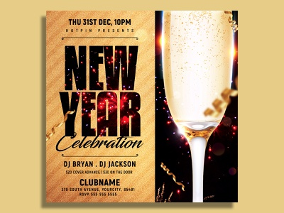 New Year Flyer Template club flyer vip party poster post party flyer party nye flyer nye nightclub new years eve new year party flyer new year party new year invitation new year countdown new year 2021 new year