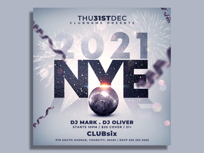 New Year Flyer Template nye flyer nye nightclub new years eve new year party flyer new year party new year invitation new year countdown new year 2021 new year gold flyer template flyer design flyer dj club flyer christmas party 2021 party