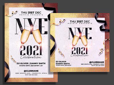 New Year Flyer Template party nye flyer nye nightclub new years eve new year party flyer new year party new year invitation new year countdown new year 2021 new year gold flyer template flyer design flyer dj club flyer