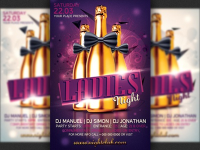 ladies night party flyer template by hotpin dribbble dribbble