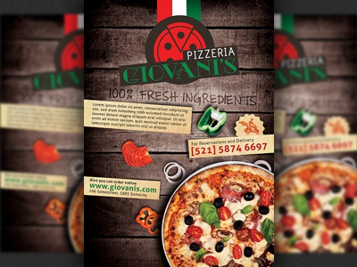 pizzeria italian restaurant ad flyer template by hotpin dribbble