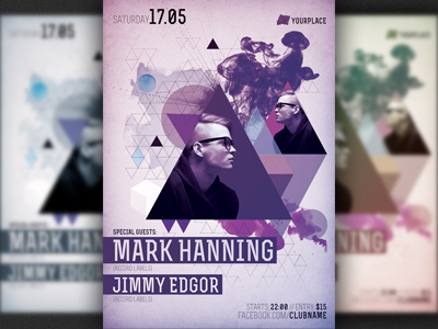 Minimalism Party Flyer Template by Christos Andronicou - Dribbble
