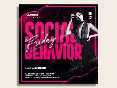 Night Club Flyer Template music luxury ladies night ladies invitation girls night out girl friday night fashion event flyer entertainment celebration card templates birthday party birthday bash birthday bash after work party